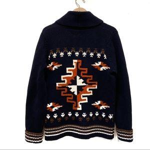 Lucky Brand Southwest Shawl Lambs Wool Cardigan